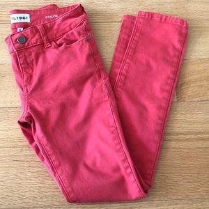 """DL1961 """"The Chloe"""" red skinny, stretchy jeans"""